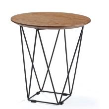 Tables en bois de café rondes uniques en métal moderne de restaurant
