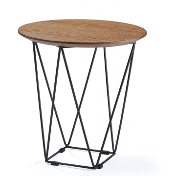 Modern Metal Unique Round Restaurant Coffee Wood Tables