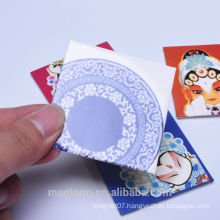 personalized wholesale China blue-and-white flower style tourist souvenir tin plate fridge magnets