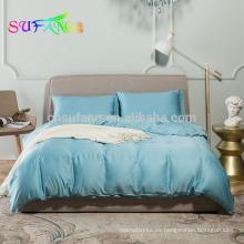 Conjunto de sábanas de bambú de lujo 300TC satén / juego de cama de bambú