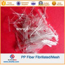 Polypropylene PP Mesh Fibrillated Fiber for Cement 25mm 38mm 50mm