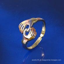 Xuping Two-Tone Handshake dedo anelar