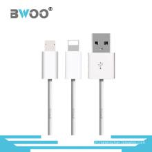 Câble de données USB 2 en 1 TPE pour téléphone portable