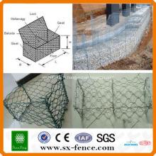 ISO9001: 2008 fabricant professionnel PVC enduit et Galvanisé pas cher boîte de gabion