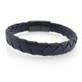 Einfaches gewebtes Armband aus echtem Leder