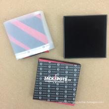 4C Printing Custom Logo Paper Gift Velvet Bottom Men Handkerchief Box