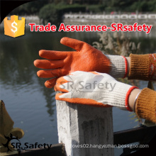 SRSAFETY 10 gauge Latex coated gloves/cheap &best quality thin latex work gloves/latex coated work gloves