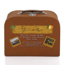 White cardboard box with handle lock box wedding photo album suitcase