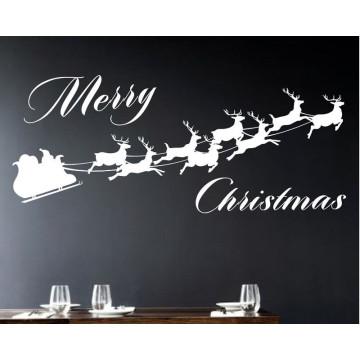 Personnalisé Joyeux Noël Vinyle Decal Wall Sticker Art Mural Chambre Décor 22inx26in
