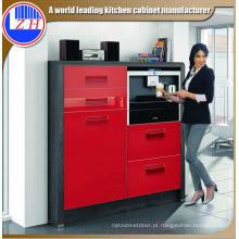 Armário de cozinha vermelho revestido UV