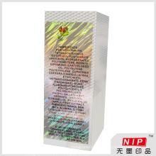 Embalagem de holograma bonita maquiagem personalizado com seu próprio logotipo