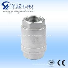 Válvula de retenção vertical rosqueada de aço inoxidável