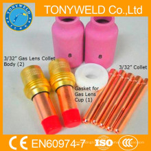 wp18 /wp17/wp26 tig welding torches 10 piece accessories parts kits