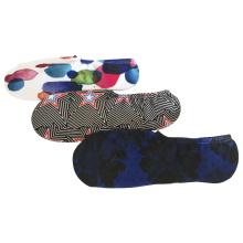 Media almohadilla poli impresión de moda Chuck calcetines ocultos revestimiento (jmpt02)
