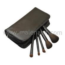 Escova da composição do curso 5PCS com caso leatherine à moda