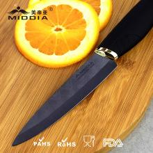 4 Zoll schwarz Klinge Küche keramische Obst/Schälmesser mit eleganten Griff