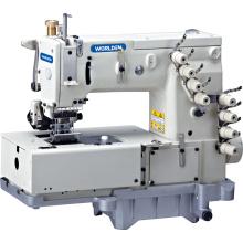 Máquina de costura de WD - 1508p cama lisa Cordao duplo com mecanismo de movimento Horizontal Looper
