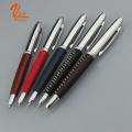 Metal Company Logo caneta grossa caneta de couro na venda