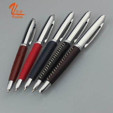 Металлическая компания Logo Ручка плотная кожаная ручка на продажу