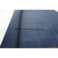 Wolle Stoff Check Satin Weave