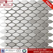 China-Fabrik-Versorgungsmaterial billig Ovaler Edelstahl-Mosaikfliesenpreis
