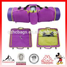 Bolso ligero de la estera del bolso de la yoga Bolso respetuoso del medio ambiente para llevar la mochila plegable de los esenciales