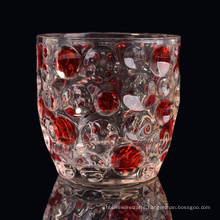 Votive Glass Candle Holders with Color Sprayed DOT for Home Fragrance