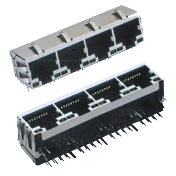 RJ45 Side Entry 1X4P Mit LED & EMI