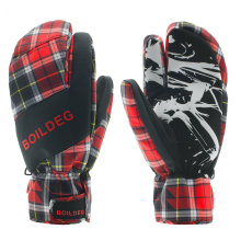 Nuevo diseño Cálido Custodia Knit Cuff Women Guantes de esquí