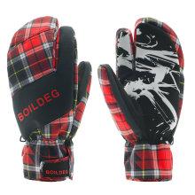New Design Quente Mantendo Luvas De Esqui De Malha Cuff Mulheres