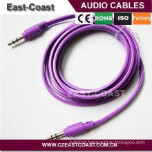 Colorful 3.5mm audio cable flat aux cable