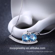 2016 Простой бриллиантовый кулон из стерлингового серебра AAA