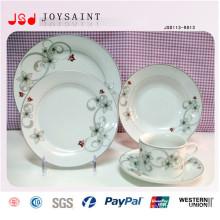 Rundes keramisches Teller-Massen-billiges weißes Porzellan-flache Platte für Restaurant-Hotel