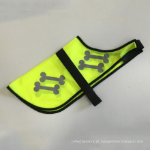 Colares de segurança pet colete reflexivo bonito para cão ou gato com os ossos