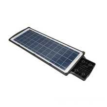 Solar LED garden lights with solar panels