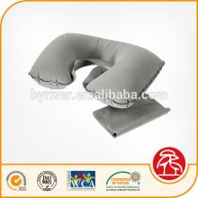 Feltrados reunindo PVC travesseiro de pescoço inflável viagem corpo de dobramento