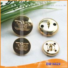 Grand bouton d'or Bouclier de militaire militaire Bad1662