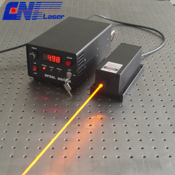300mw 577nm laser solide pour laser dispaly