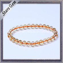 Good Qualiry Fashion Yellow Quartz Citrine Beads Jewelry Bracelet