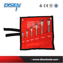 Chrome Plated 6PC (6-17) Offset Ring Spanner Tool Set
