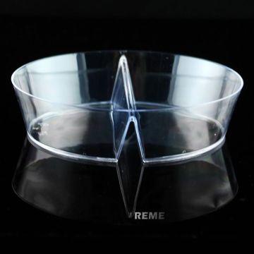 Disco de plástico desechables plato dúplex cuencos