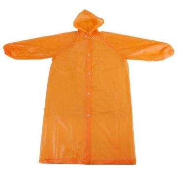 Orange Rainsuit en plastique jetable