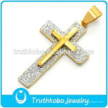 Croix en acier inoxydable pendentif croix croix de Jésus pour hommes bijoux en acier inoxydable