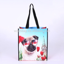 Reusable Eco Promotion Laminated Polypropylene PP Woven Shopping Tote Bag Grocery For Supermarket