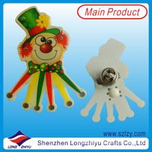 Joker colorido diseño PVC LED insignia Flash Lapel Pin