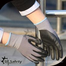 SRSAFETY 15 калибровочные трикотажные нейлоновые и спандексные вкладыши с перфорированной нитрильной перчаткой