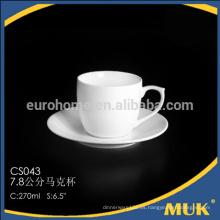 Taza y platillo de promoción de café, taza promocional y platillo, taza de cerámica de logotipo de marca