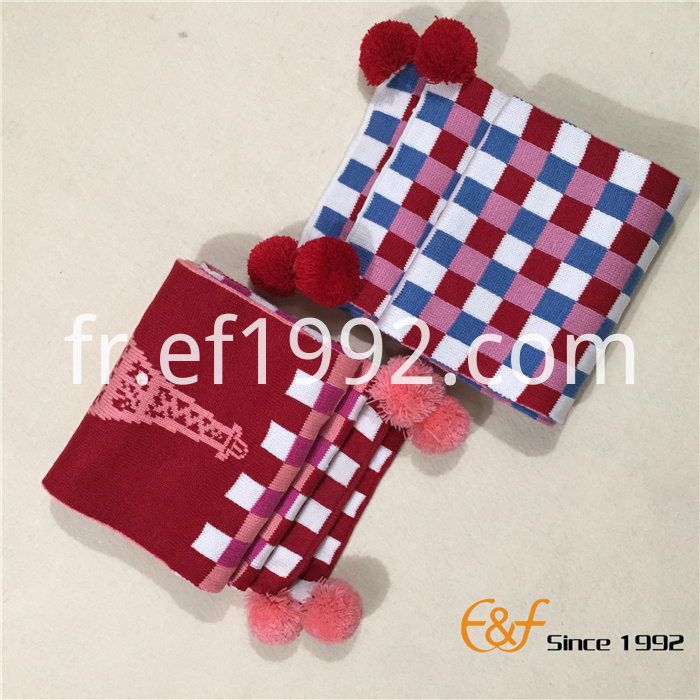children knitting scarf