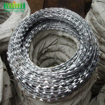 Galvanized Cross Razor Barbed Wire Murah