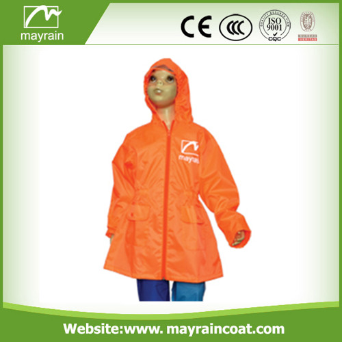Kid' S 100% Polyester Raincoat